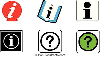 information icon on white background