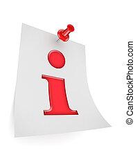 information, icon., symbole