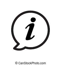 Information icon vector for graphic design, logo, web site, social media, mobile app, ui illustration