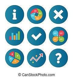 Information icons. Question FAQ symbol.