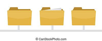 information inside a folder illustration design on white