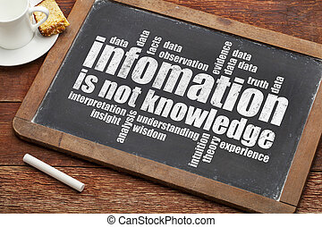 information is not knowledge - a quote from Albert EInstein ...