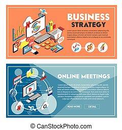information, isométrique, graphique, illustration affaires, concept, 3d
