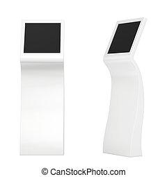 information kiosk. Information terminal. interactive kiosk ...