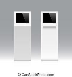 Information kiosk, terminal - Freestanding information...