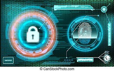 information., lagerung, st, hintergrund., schutz, technologie
