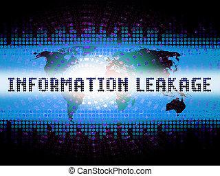 Information Leakage Unprotected Digital Flow 2d Illustration