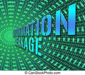 Information Leakage Unprotected Digital Flow 3d Illustration