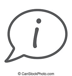 Information line icon, e commerce and marketing, help sign...