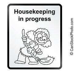 information, ménage, signe