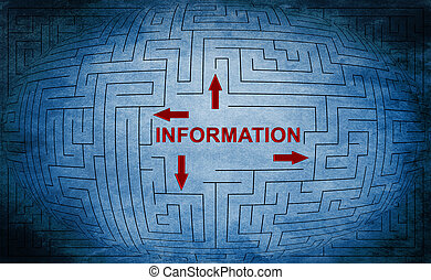 Information maze concept