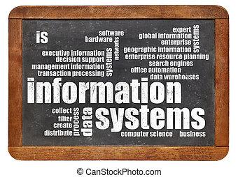 information, mot, systèmes, nuage