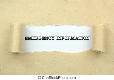 information, nødsituation