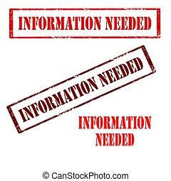 information, needed-stamp