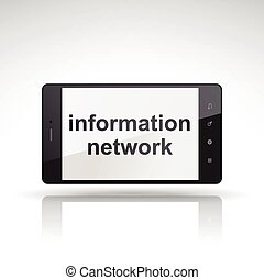 information network words on mobile phone