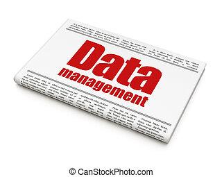 Information news concept: newspaper headline Data Management