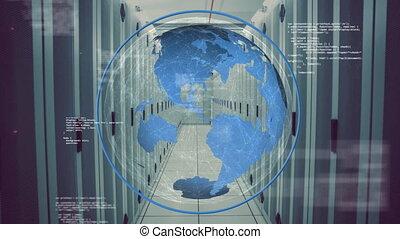 information, numérique, globe