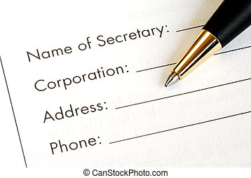 Information of a corporation - Fill in the information of a...