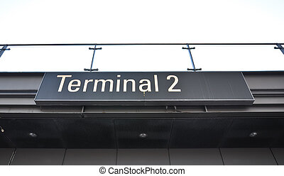 Information on a gate sign at the airport