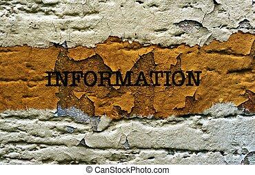 Information on grunge background