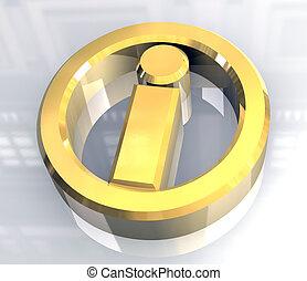 information, or, symbole, (3d)