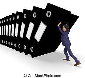 Information Overload Meaning Business Man And Faq