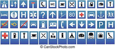Information symbol and panels