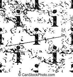 Information pattern grunge, monochrome