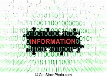 Information puzzle concept
