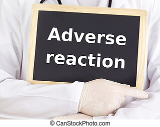 information, réaction, docteur, adverse, blackboard:, spectacles