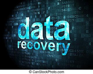 information, récupération, fond, numérique, données, concept: