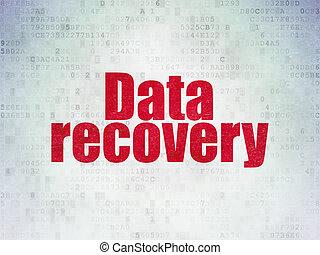 information, récupération, papier, fond, numérique, données, concept: