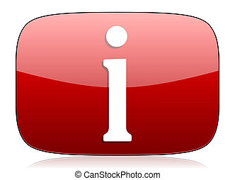 information red glossy web icon