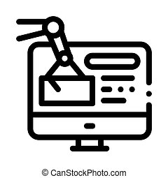 information retrieval icon vector. information retrieval sign. isolated contour symbol illustration