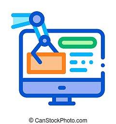 information retrieval icon vector. information retrieval sign. color contour symbol illustration