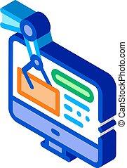 information retrieval icon vector. isometric information retrieval sign. color isolated symbol illustration