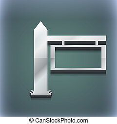 Information Road Sign icon symbol. 3D style. Trendy, modern design with space for your text . Raster