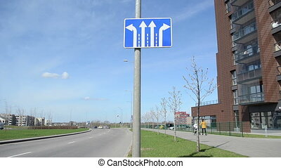 information road sign - information blue road sign with...