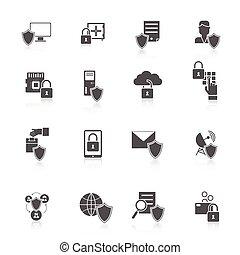 information, sécurité, icône