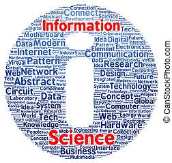 Information science word cloud shape