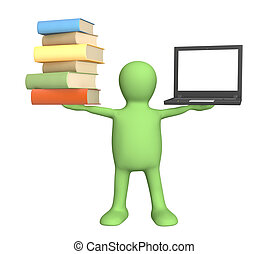 Information search - Conceptual 3d image - information...