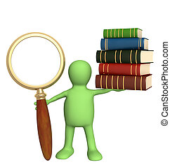 Information search in the books