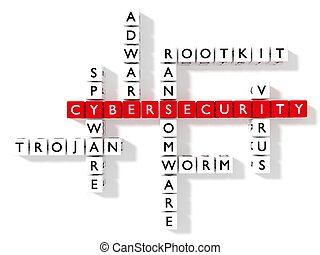 information security crossword puzzle cybersecurity concept flat design