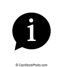 Information sign icon. Vector illustration