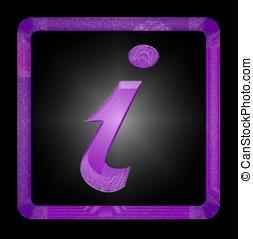 Information Sign - Purple Information Sign