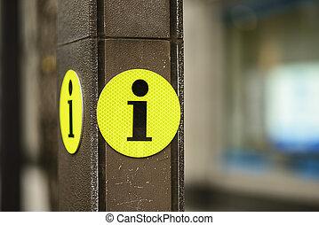 Information sign - Tourist information sign.