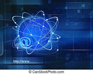 information, société, résumé, global, arrière-plans, techno, conception, ton