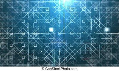 Information space flight. - Flight through abstract digital...