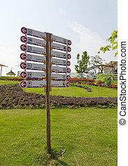 Information street signpost