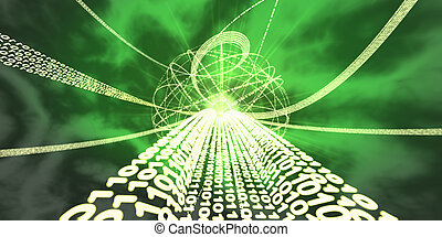 Information super-highway Binary streams of information